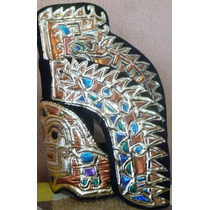 Copill Azteca Penacho Serpiente Quetzatcoatl Moctezuma Bfn