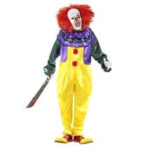 Disfraz Payaso Asesino Eso It Hombre Adulto Halloween Terror