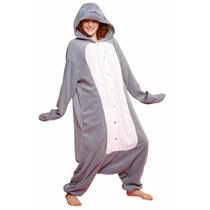 Disfraz / Pijama / Mameluco De Leon Marino Para Adultos