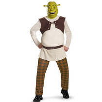 Dreamworks Hombres Shrek Deluxe Adult Costume Halloween - Xx
