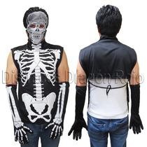 Disfraz Calavera Para Adulto - Catrin Esqueleto Envío Gratis