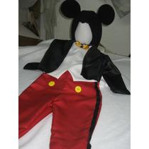 Elegante Traje Disfraz Inspirado En Mickey Mouse Miky Mimi