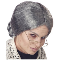 Peluca De Viejita, Anciana, Abuela, Tercera Edad Para Damas