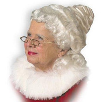 Peluca De Viejita, Anciana, Abuela, Señora Claus Para Damas