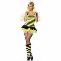 Disfraz Mujer Queen Bee Abeja Talla Chica
