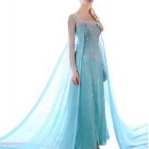 Vestido Disfraz Frozen Elsa Adulto Envío Gratis