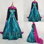 Disfraz Frozen Adulto Princesa Elsa Ana Vestido Con Capa