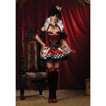 Leg Avenue Disfraz Reina De Corazones 4piezas Sexy Mdd