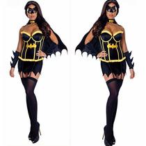 Disfraz Batichica Batman Vestido Sexy Fiesta Halloween Pole