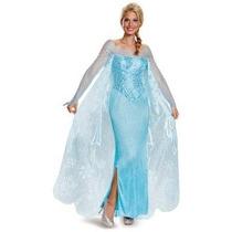 Disfraz Elsa Adulto Mujer Halloween Disney Frozen De Lujo