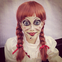 Disfraz De Anabelle Anabel Pelicula Halloween Con Peluca