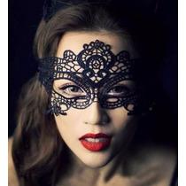 Antifaz Encaje Negro Disfraz Sexy Mascara Carnaval Ojos Cara