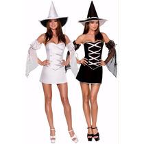 Disfraz 2 En 1 Revesrsible Bruja Inmediata Halloween Omm