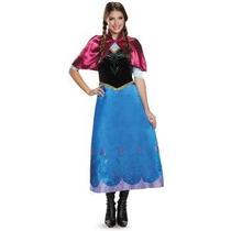 Disfraz Anna Adulto Mujer Halloween Disney Frozen De Lujo
