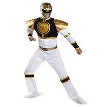 Disfraz Power Ranger Adulto Ranger Blanco Classic Costume Mu
