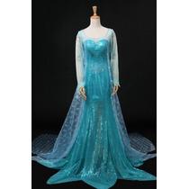 Disfraz Vestido Frozen Elsa Adulto Envío Gratis
