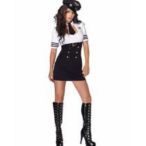Disfraz Chica Capitán Primera Clase 83839