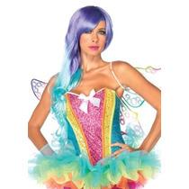 Disfraces Leg Avenue Rainbow Lentejuela Corsé Con La Ayuda Q