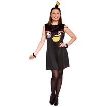 Disfraz De Angry Birds Negro Para Damas, Envio Gratis