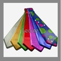10 Corbatas Plastico Pvc Fiesta Batucada Disfraz Evento Neon