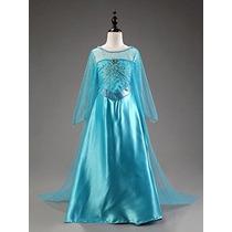 Elsa Snow Queen Traje Del Vestido De Disney Congelado Inspir