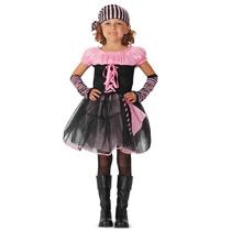 Oferta Unica! Disfraz De Pirata Rosa Para Niñas Talla 12-14