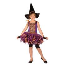 Disfraz Vestido Bruja Brujita Tutu Niña Talla 8 A 10 Años