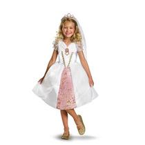 Disfraz Niña Novia Boda Rapunzel Enredados Disney Princesa