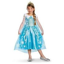 Disfraz Niñas Disney Congelado Elsa Deluxe Costume X-pequeño