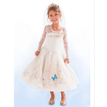 Vestido Disfraz Cenicienta 2015 Frozen Novia Niña