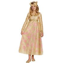 Disfraz De Lujo Aurora, Malefica, Bella Durmiente Para Niñas