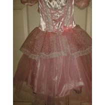 Disfraz Angel Navidad Rosa Con Alas Para Niña Con Luz