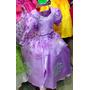 Vestido Disfraz Princesa Sofia Zapatos, Corona