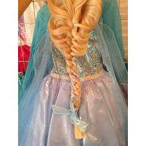 Padrisimo Disfraz Elsa Frozen Original Con Peluca Y Corona