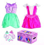 Disney Princess Bling Bella Durmiente Y Ariel Dress-up Tronc