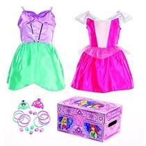 Disney Princess Bling Bella Durmiente Y Ariel Dress-up Tronc