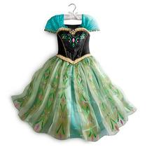 Vestido Ana Frozen Oficial Original Disney Store De Lujo