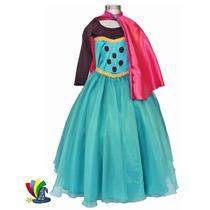 Disfraz Vestido Elsa Frozen Coronación Modelo Disney