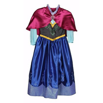 Vestido Disfraz Anna Frozen. Talla 7-8 Original De Disney!!!