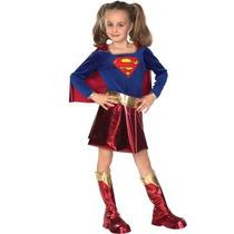 Disfraz De Superman, Super Chica Para Niñas, Envio Gratis