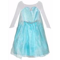 Vestido Disfraz Elsa Frozen. Talla 7-8 Original De Disney!!!