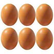 6pcs De Madera De Imitación Niños Huevos Falsos Jugar Cocina