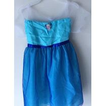 Vestido Princesita Elsa Disney Store Talla 4/6 Frozen