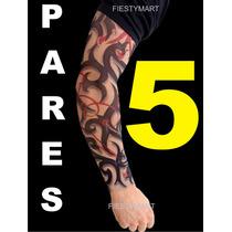 5 Par Mangas Tatuajes Fiestas Eventos Disfraz Sleeve Tatoo