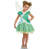 Disfraz Primavera Niña Campanita Tinkerbell Talla 3 A 4 Años