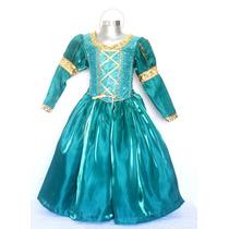 Disfraz De Valiente Merida Princesa Sofia Rapunzel Bella