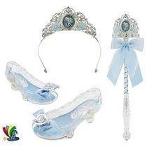 Corona Zapatos Varita Disfraz Cenicienta Disney Store