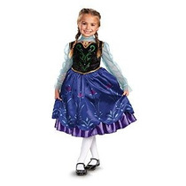 Disfraz De Frozen Anna Deluxe Chica Disney Disfraz 4-6x