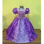 Precioso Vestido, Disfraz De Princesa Rapunzel.
