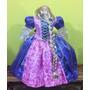 Vestido Disfraz De Rapunzel Y Peluca